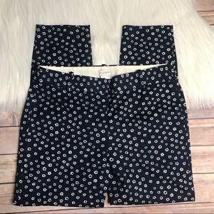 J Crew Printed Minnie Pants Blue White Floral